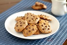 Soft & Chewy Flourless Chocolate Chip Cookies (Gluten Free, Paleo) -- no strange ingredients...very simple!