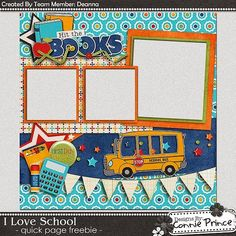 Scrapbooking TammyTags -- TT - Designer - Connie Prince, TT - Item - Quick Page, TT - Theme - School or Graduation