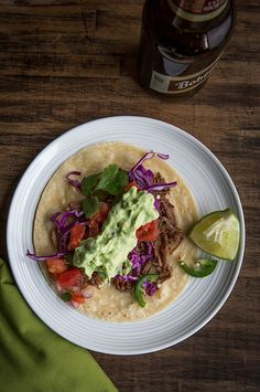 Slow Cooker Shredded Beef Tacos  |  Chez Us