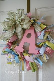baby wreath.......great idea for baby showers