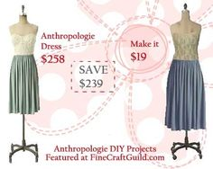 DIY lace Anthropologie dress for $19, (not $ 258).  Free video tutorial.