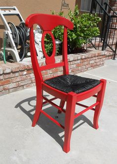 SOLDFunky Red Chair by CityClassics on Etsy, $45.00