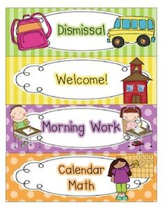 Our Daily Schedule Cards $6