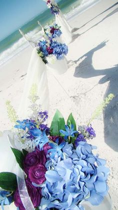 #purple +  #pale #pastel #powder #blue #beach wedding ... #Budget wedding #ideas for brides, grooms, parents & planners ... https://itunes.apple.com/us/app/the-gold-wedding-planner/id498112599?ls=1=8 … plus how to organise a great wedding, with the money you have. ♥ The Gold Wedding Planner iPhone #App ♥