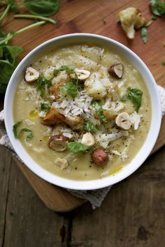 Roasted Sunchoke & Cauliflower Soup