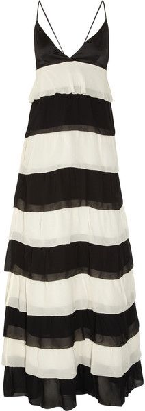 Tiered Crepe Gown - Lyst malene birger