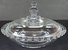 Imperial Candlewick Covered Candy Dish Box - 400/259 boopi glass, candi dish, candlewick glass, cover candi