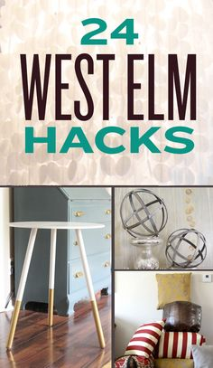 24 DIY West Elm Hacks. Get the West Elm look on a Target budget. Cute ideas.