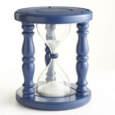 haha! A Time Out Timer Stool - Navy
