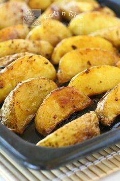 food porn, yummi garlic, potato wedg, potatoes, garlic potato