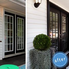 See what a difference a can of black paint can make! Paint the trim to make it look expensive