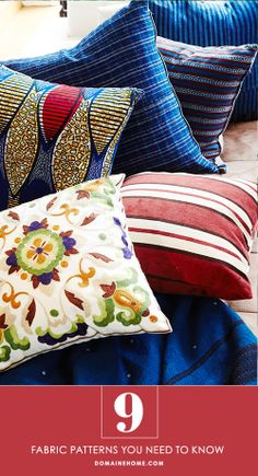 9 classic fabric patterns that are everywhere in home #decor.