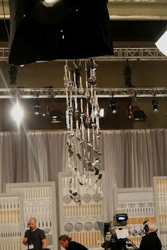 Utensil chandelier from the set of the Martha Stewart show at the 45th Bake-Off contest.