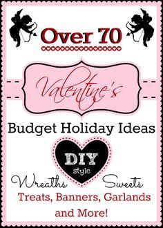 #Valentine's Day budget #diy #wreath #banner #decor #ideas