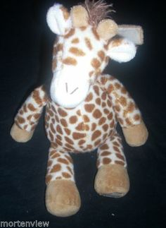 "15"" Cloud B Gentle Giraffe Soothing Sounds White Noise Plush Stuffed Animal Toy 