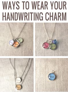 YOUR CHILD'S HANDWRITING Upgrade  12 mm charm  by J4JCharms, $17.00  I LOVE THIS for when they are all old enough to write their own names.  One down, two to go.  :)