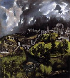 """A View of Toledo,"" El Greco, 1597-99 (ooc, mannerism) #painting"