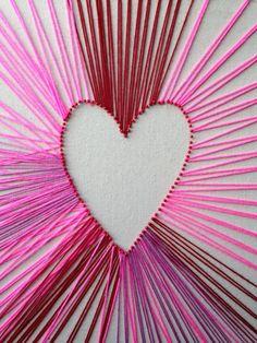 Valentine's Day string art DIY