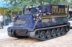 Tampa Police Dept. tactical vehicle
