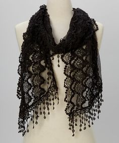 Look what I found on #zulily! Black Lace Scarf #zulilyfinds