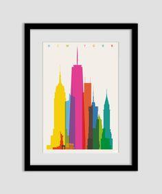Shapes of NYC art print. £25.00, via Etsy. / so gorgeous.