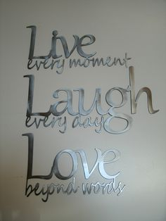 Live Laugh Love Metal Wall Art - Polished Steel by SteelDesigns on Etsy