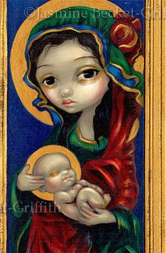 Jasmine Becket-Griffith - Madonna And Child At Night