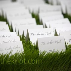 Grass escort cards