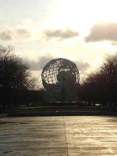 The trademark for the 1964 World's Fair, the Unisphere, in Flushing Meadows Park.