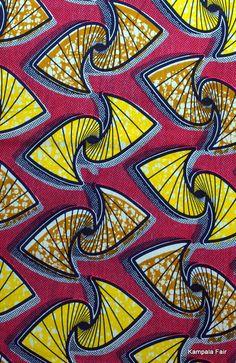 African print fabric from Uganda