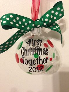 First Christmas Together Ornament by PersonalizedGlasses on Etsy, $12.00