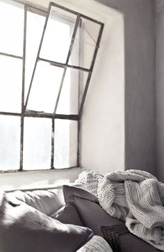 = grey linens and throw