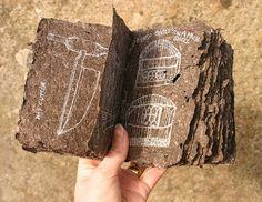 peat paper book with sketches 1 by joannebk (Joanne B Kaar), via Flickr