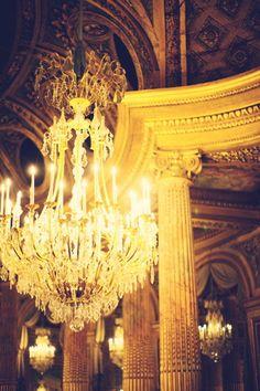In the ballroom