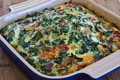 Kale, Bacon, and Cheese Breakfast Casserole Recipe