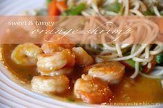 orange shrimp - whole meal under 400 calories