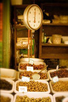 Olive Market in Athens, Greece