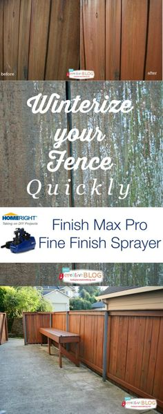 Winterize your Fence and Deck. Waterproof easily. #ad @HomeRight