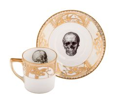 Skull espresso cup and saucer
