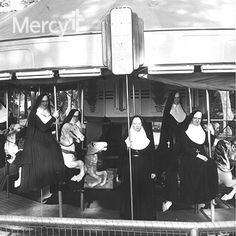 Sisters of Mercy were taking some time away from their duties at the hospital to enjoy the carousel ride at Riverside Park in Independence, Kan. #throwbackthursday #tbt