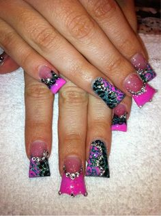 Birthday nails? Princess crown? I think so.