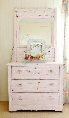 Love this soft pastel dresser.