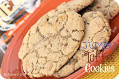 Jumbo Toffee Cookies