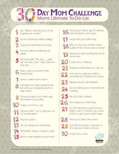 30 Day Mom Challenge | iMOM