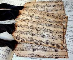 Music Notes-Handmade Vintage Style Gift Tags