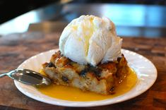 Bread Pudding in Whiskey Butter Sauce:  Make dessert out of leftover or stale bread!