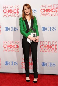 fashion thing, emma stone, green, red carpets, stone kill, jackets, blazers, inspired outfits, people