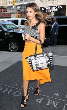 8/5/14 - Jessica Alba out in NYC.