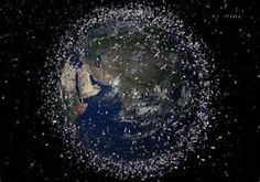 The satellites and space junk around the Earth. Can't get away from traffic anywhere!