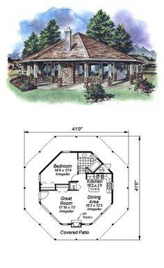 Tiny House Plan 58519   Total Living Area: 695 sq. ft., 1 bedroom & 1 bathroom. #tinyhouse #houseplan